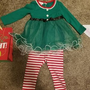 BNWT 2 piece holiday outfit size 18 months